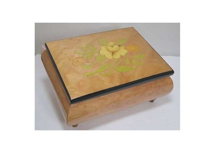 Flower Inlay Jewellery Boxes & Musical Jewellery Boxes From Shop 4 Music Boxes